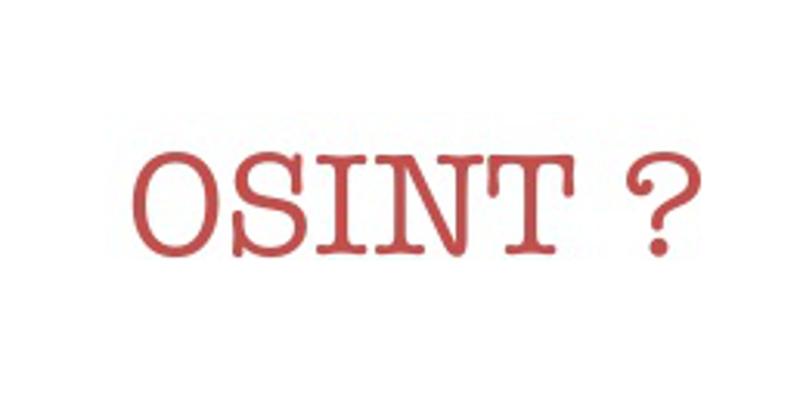 OSINT - Definizione